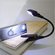 Mini Clip-On Flexible Bright LED Lamp Light Book Reading Lamp For Travel Bedroom