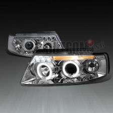 For 1997-2000 VW Passat Dual Halo LED Projector Headlights Head Lamps Left+Right