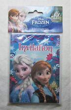 8 Frozen Birthday Party Invitations w/Envelopes - Elsa, Anna & Olaf - NIP