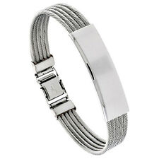 "8"" Stainless Steel Cable ID Bracelet"