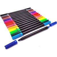 12pcs Dual Tip Double Ended Felt Tipped Pens Fine/Thin Thick Duel Colouring Set