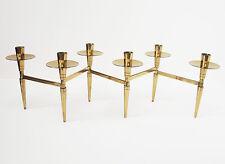 PARZINGER DORLYN Vtg Mid Century Modern Brass CANDLE HOLDER Candelabra