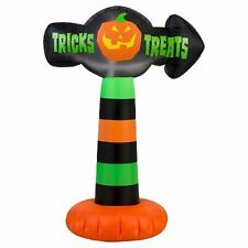 Halloween Inflatable 3.5' Colorful Trick or Treat Pumkin Sign Airblown Prop