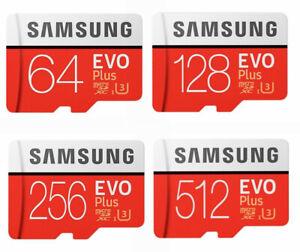 SamSung Micro SD Card Evo Plus 32GB 64GB 128GB 256GB 512GB Class 10 SDXC Memory