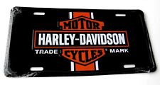 Harley Davidson BAR SHIELD STRIPE Metal Embossed Car Auto License Plate Tag