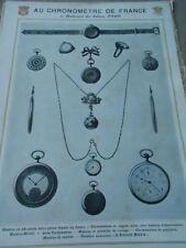 Publicité 1907 Au Chronomètre de France