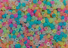 Multi Colors Glow in Dark Mini Pony Beads made in USA 1000pc crafts school kandi