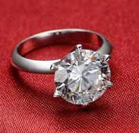 5.00 Ct Diamond Solitaire Engagement Wedding Rings 14K White Gold Ring Size 7