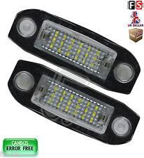 VOLVO NUMBER PLATE LIGHTS C30 S40 V50 XC60 V70 LED WHITE 18SMD CANBUS ERROR FREE