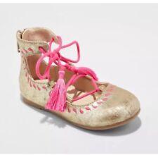 Genuine Kids From Oshkosh Girls Trinity Ballet Flats Ghillie Gold pink Size 8