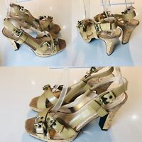 Ladies JASPER CONRAN Sandals Size UK Strappy Shoes Slingback Heels New UK 7 EU41