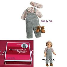 American Girl Beforever Kit Gardening Outfit Overalls Shirt Boots NEW IN BOX