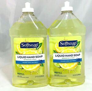 2 PACK LOT SoftSoap Liquid Hand Soap Refill Bottles Refreshing Citrus Scent 32oz