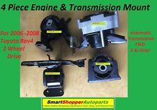 5 Piece Engine & Transmission Mount for 2006-2008 Toyota Rav4 2.4L RWD Auto Tran