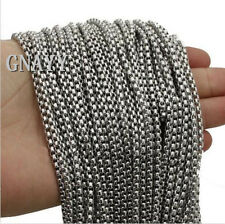 GNAYY 5meter stainless steel 3.5mm Square Rolo chain Jewelry Finding Chain DIY