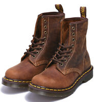 Dr Martens 8-Eye 1460 Airwair Aztec Crazy Horse Brown Leather Boots Unisex 36-44