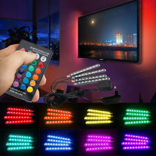 4PCS LED RGB Lamp Home Room Atmosphere Neon Strip Light Remote Control with Plug