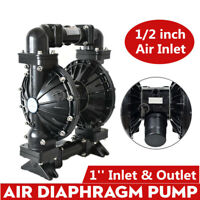 Air Operated Double Diaphragm Pump 41.5GPM Aluminium Santoprene 1'' Air Inlet