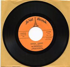 """7"""",45RPM,Blues,R&B,Mint,THE GISWOLDS - DADDY, DADDY & I JUST GOT TO KNOW, La Val"""