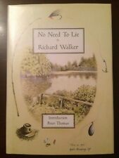 NO NEED TO LIE Limited Edition Fishing Book Richard Walker 296/500 Carp Pike