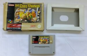 BOXED THE LOST VIKINGS GAME SUPER NINTENDO SNES - TESTED & WORKING GC