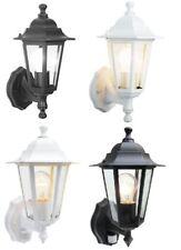Lanterne murale extérieure noire / blanche avec détecteur PIR / ampoule LED