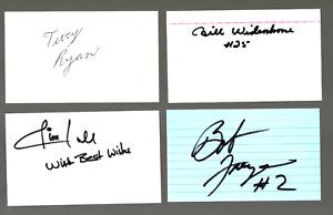 40 NASCAR authentic autographed index cards NO RESERVE