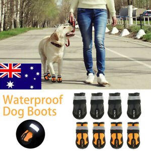 Puppy Shoes Boots Pet Dog Cat Anti Slip Paw Protective Waterproof Reflective