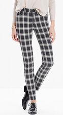 MADEWELL High Riser Skinny Stretch Jeans Black White Bristow Plaid Womens 24