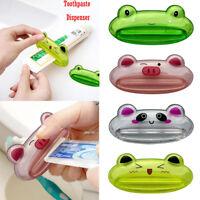 Bathroom Home Rolling Tube Holder Squeezer Easy Cartoon Toothpaste Dispenser 2pc