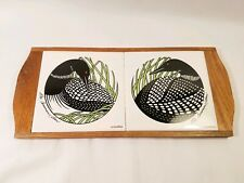 Marino Duluth Minn Common Loon Double Ceramic Tile Cheese Board