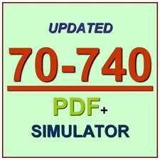 Latest 70-740 Verified Practice Test 740 Exam QA PDF+Simulator