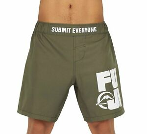 Fuji MMA BJJ No Gi Lightweight Grappling Competition Fight Board Shorts - Green