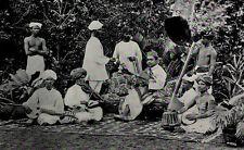 1912 Indian Musicians Instruments Drum Tambura India Photogravure Photograph