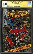 Amazing Spider-Man #100 CGC 8.0 SS 2x STAN LEE & ROMITA 100th anniversary issue