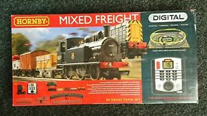 HORNBY R1126 Mixed Freight Digital Electric Train Set NEW