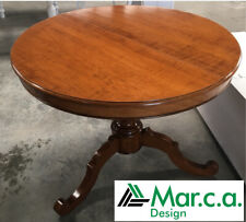 Table Round Finished Bassano, Color Walnut With 1 Extensions, Various Sizes