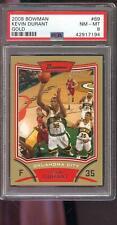 2008-09 Bowman GOLD #69 Kevin Durant ROOKIE RC PSA 8 Graded NBA Basketball Card