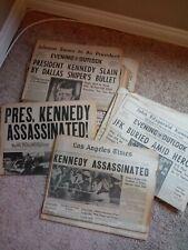 VINTAGE (14)Los Angeles Times/Evening Outlook Newspapers JFK Assassination 1963