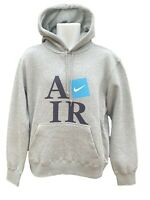 New Vintage NIKE Athletic Dept AD AIR Graphic Cotton  Pullover Hoodie Grey M