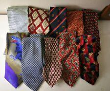 Yves Saint Laurent Debenhams Mens Silk Tie Bundle 10 Items D4