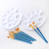 12PCS/SET PAINT NYLON HAIR WOODEN HANDLE PAINTING BRUSHES WITH COLOR PALETTE ALL