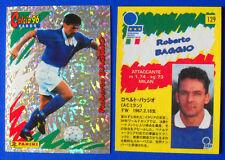 RARA CARDS PANINI CALCIO 96 - N. 129 - ROBERTO BAGGIO - ITALIA - JAPAN JAPANESE