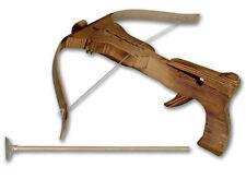 I bambini in legno 3 FRECCE BALESTRA BALESTRE Set Caccia Tiro Con L'Arco in Legno Giocattolo ALL'APERTO UK