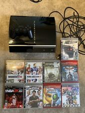 Sony PlayStation 3 Fat 80GB Black Console Complete w/ Controller And Games!