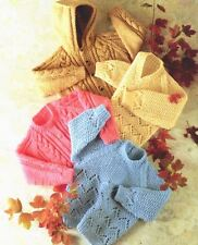 Knitting Pattern Baby/Child's Chunky Sweaters & Jackets 51 - 76 cm chest    (67)