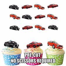 PRECUT Audi Sports Cars 12 Edible Cupcake Toppers Decorations Boys Mens Birthday