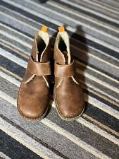 Mini Boden, boys brown leather desert boot, size (UK) 5.5, (EU) 39
