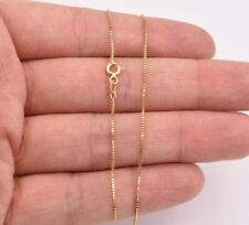 """0.7mm Italian Box Chain Ankle Anklet Real 10K Yellow Gold 10"""" GREAT GIFT IDEA!"""
