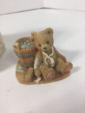 "1991 Cherished Teddies, #950556 Joshua ""Love Repairs All"" Figurine W/ Box"